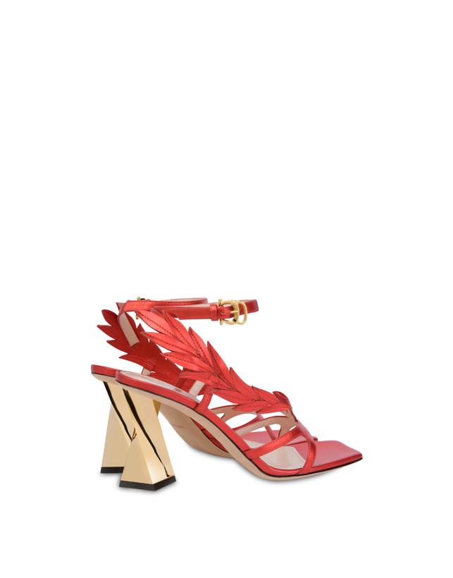Shiny Laurel laminated nappa leather sandals Photo 3