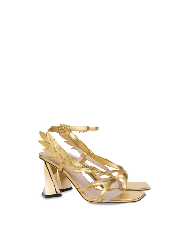 Shiny Laurel laminated nappa leather sandals Photo 2