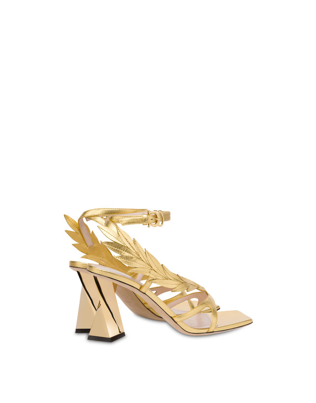 Shiny Laurel laminated nappa leather sandals Photo 3