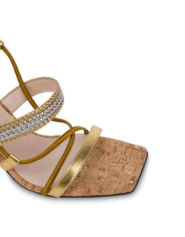 Costantinopolis laminated nappa leather sandals Photo 4