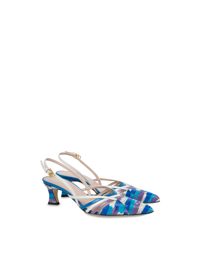 Febe painted elaphe slingbacks Photo 2
