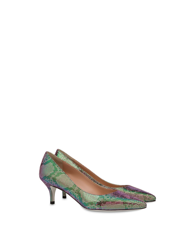 Annabelle pump with iridescent python print Photo 2