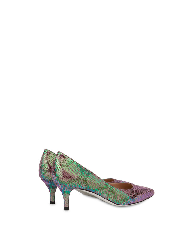 Annabelle pump with iridescent python print Photo 3