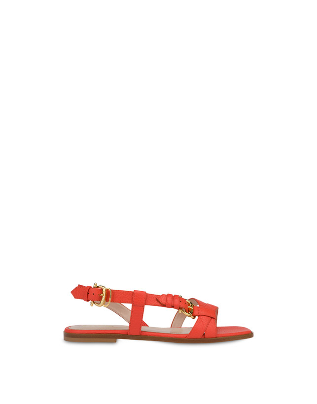 Buckle Notes flat sandals in patent leather Photo 1