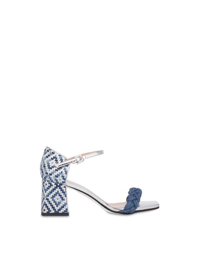 Greek Islands denim and laminate sandals Photo 1