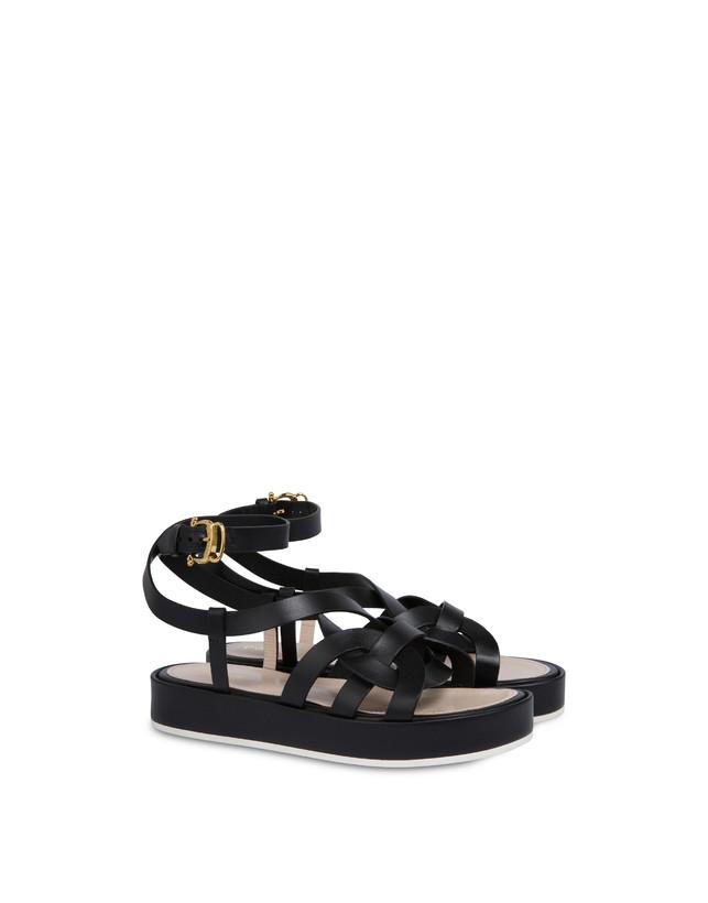 Greek Arco Wave cowhide flatform sandals Photo 2
