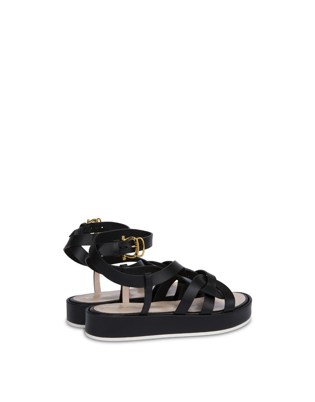 Greek Arco Wave cowhide flatform sandals Photo 3