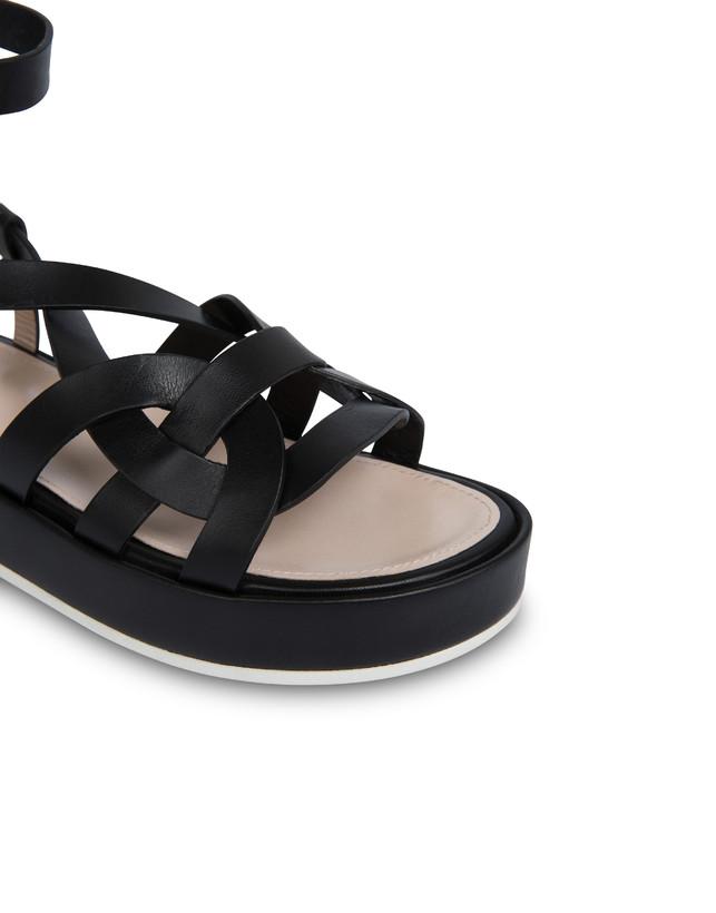 Greek Arco Wave cowhide flatform sandals Photo 4