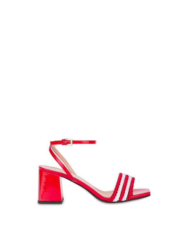 Rope On Rope sandals in patent leather and rope Photo 1