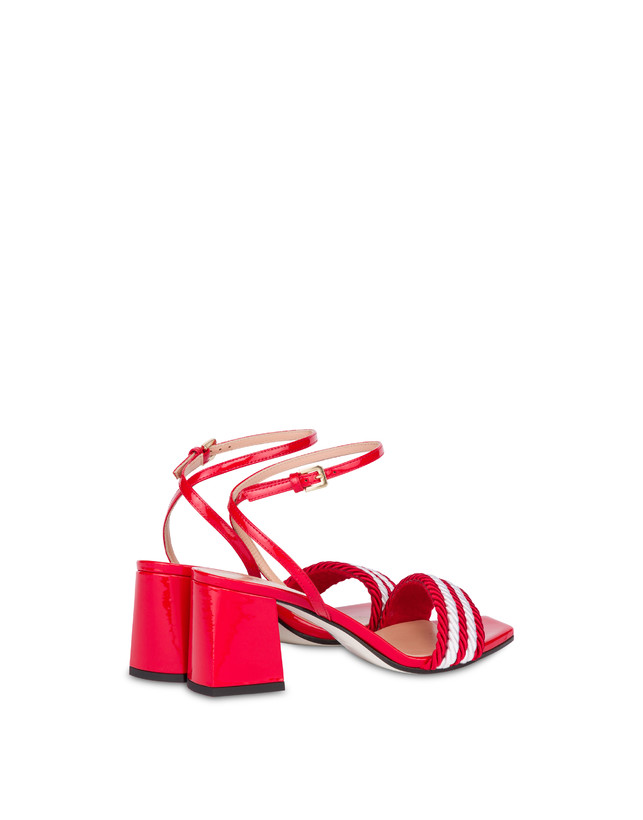 Rope On Rope sandals in patent leather and rope Photo 3