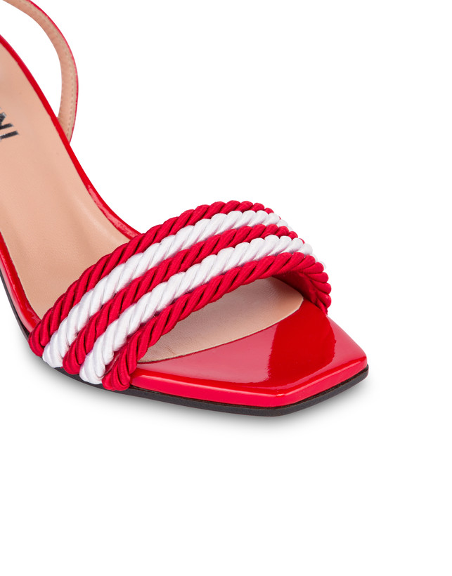 Rope On Rope sandals in patent leather and rope Photo 4