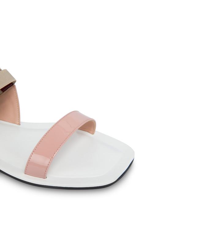 Greek Cross patent leather flat sandals Photo 4