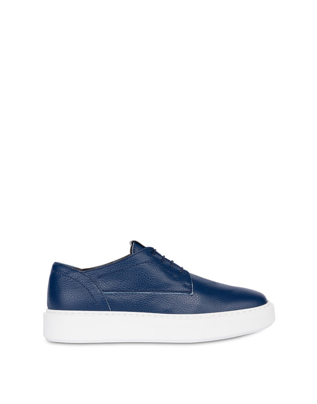 Navy calfskin sneakers Photo 1