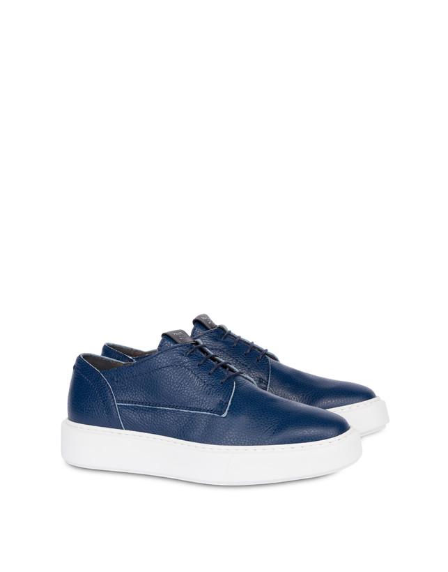 Navy calfskin sneakers Photo 2