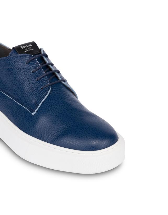 Navy calfskin sneakers Photo 5