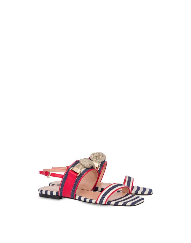 Marina striped flat sandals Photo 2