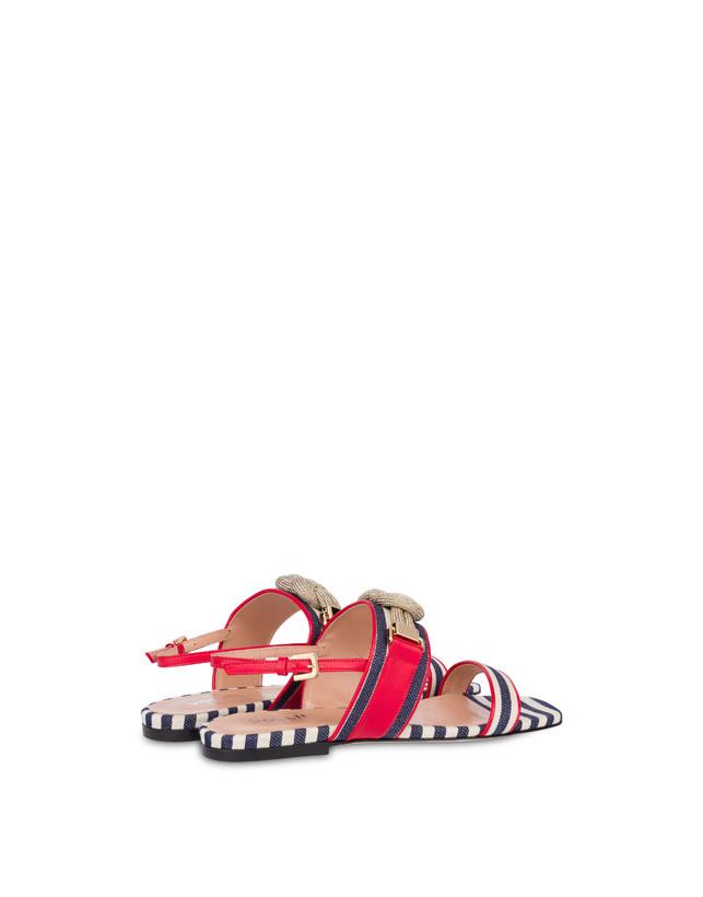 Marina striped flat sandals Photo 3