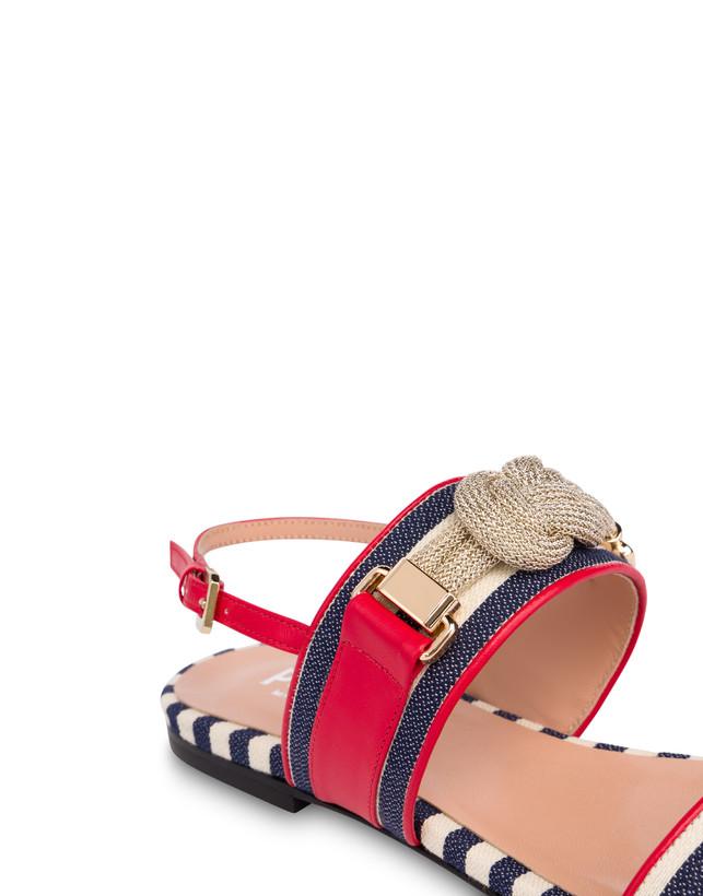 Marina striped flat sandals Photo 4