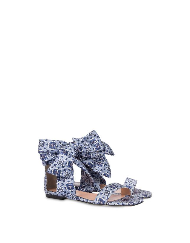 Azulejos flat sandals in satin Photo 2