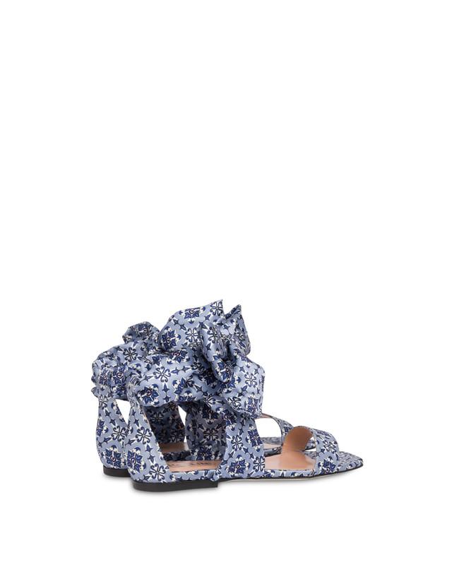 Azulejos flat sandals in satin Photo 3