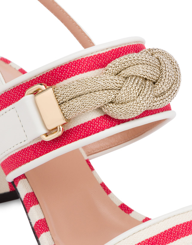 Marina striped canvas sandals Photo 4