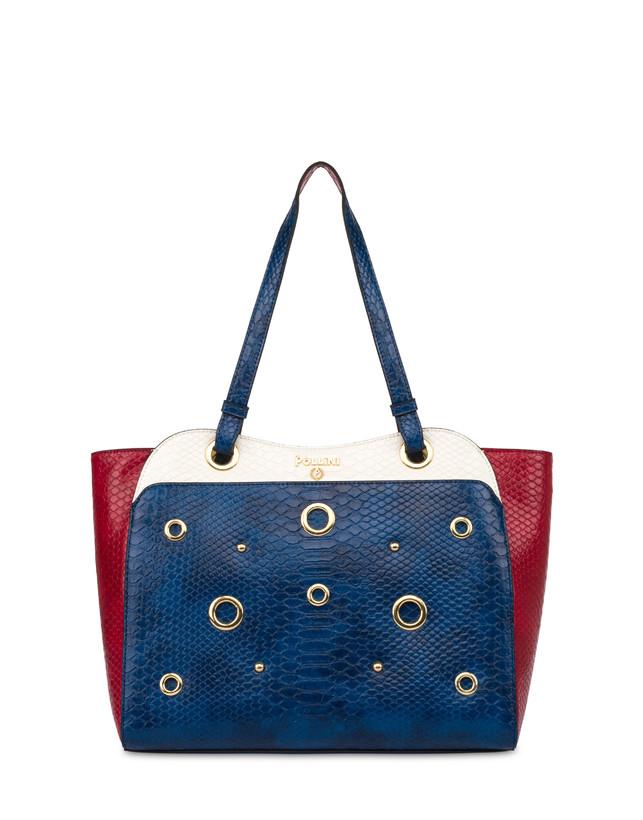 Marina Tote bag with python print Photo 1