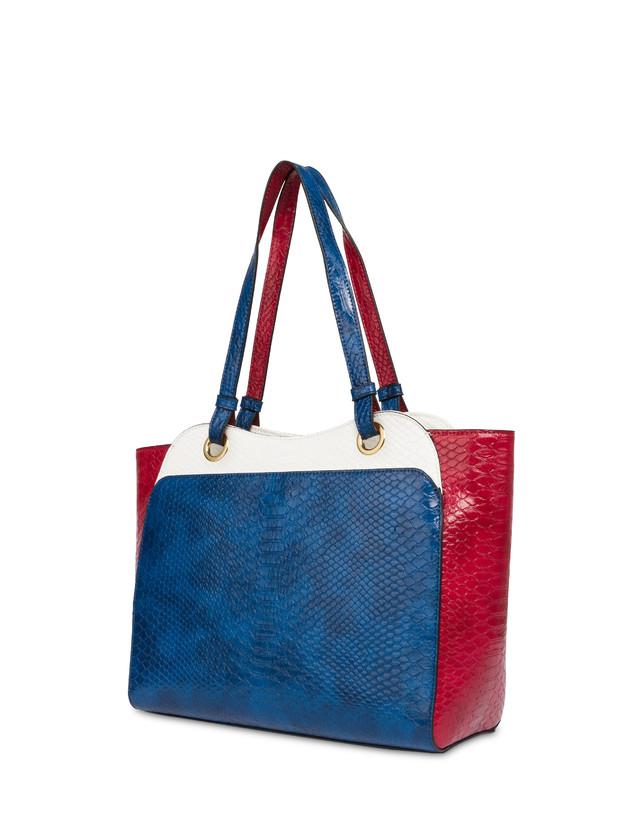 Marina Tote bag with python print Photo 3