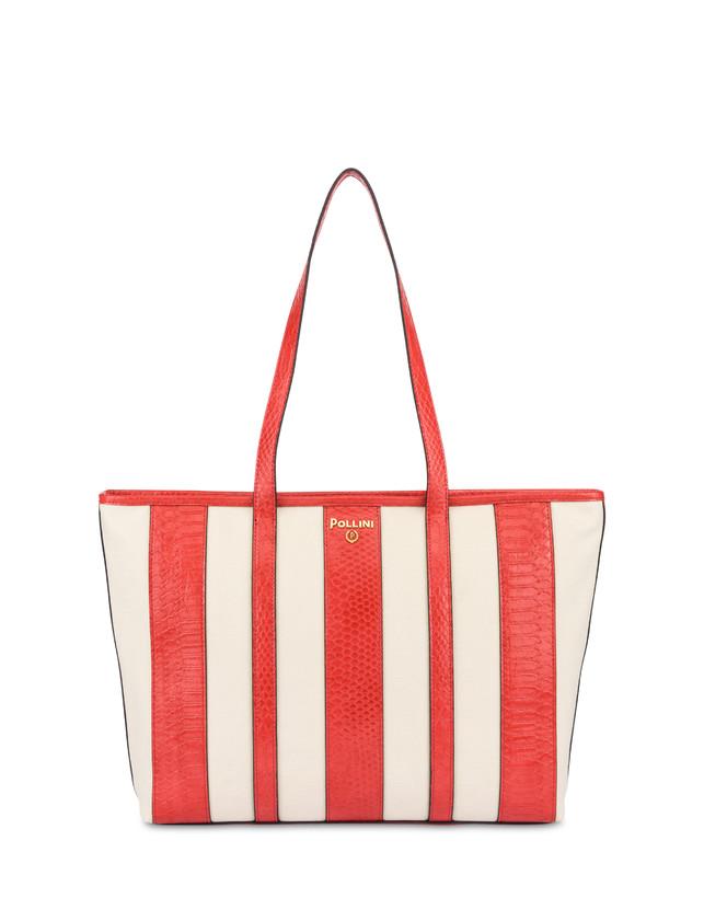 Stripe On Me canvas shopping bag Photo 1