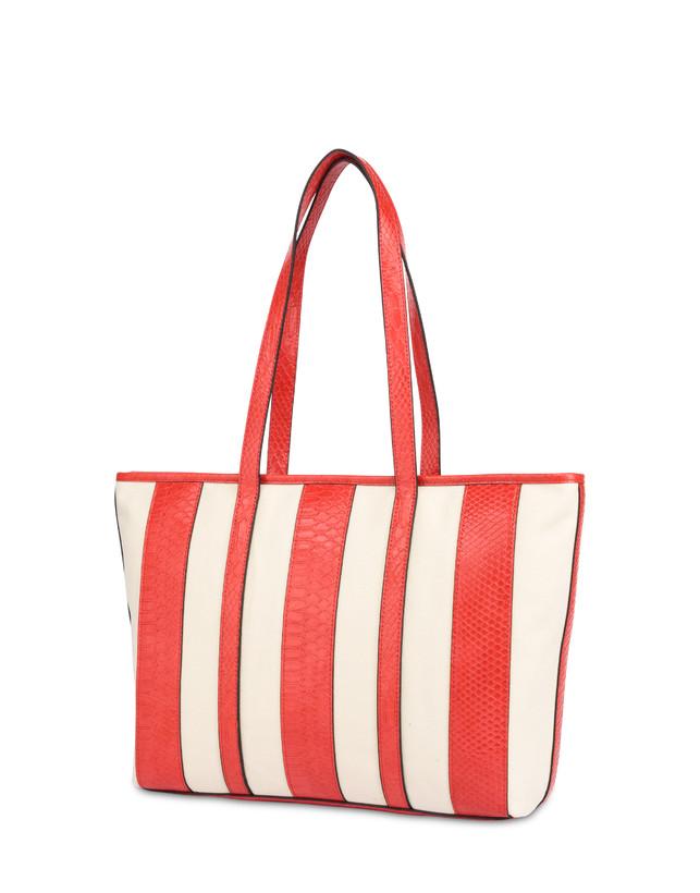 Stripe On Me canvas shopping bag Photo 3