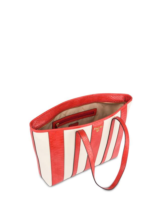 Stripe On Me canvas shopping bag Photo 4