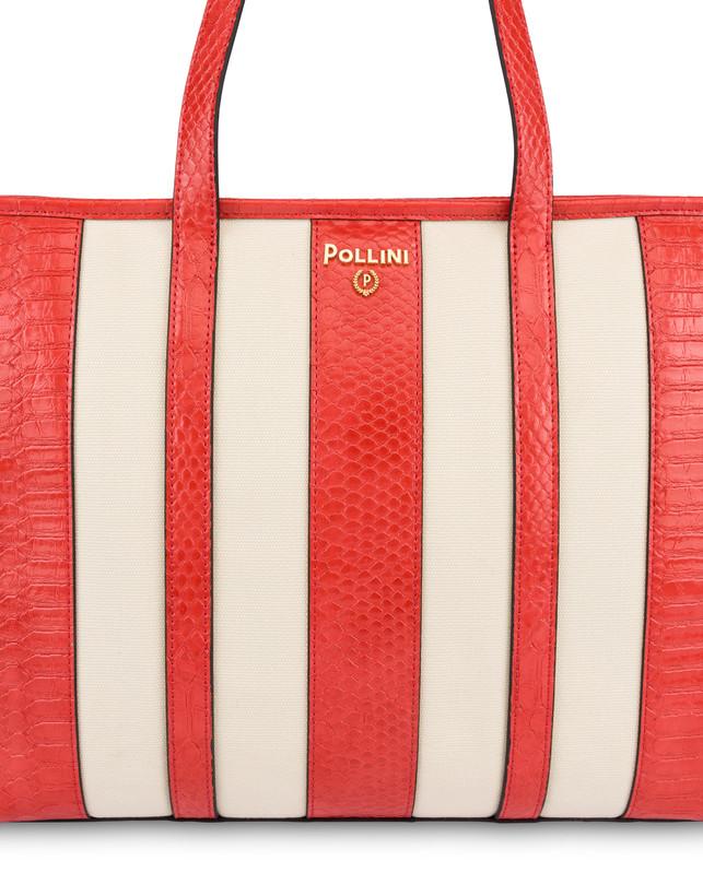 Stripe On Me canvas shopping bag Photo 5