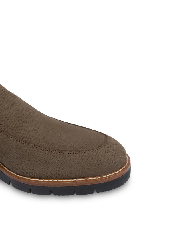 Madras print nubuck loafers Photo 5