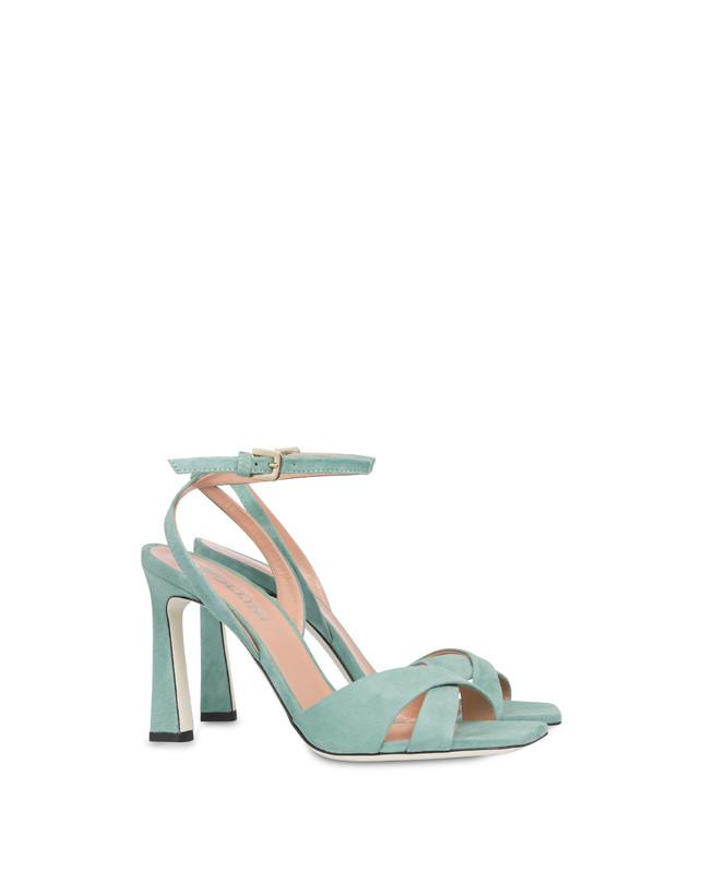 Cote d'Azur high sandals in suede Photo 2
