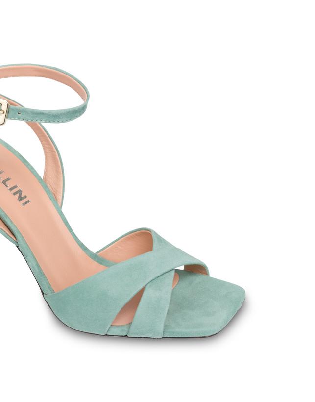 Cote d'Azur high sandals in suede Photo 4