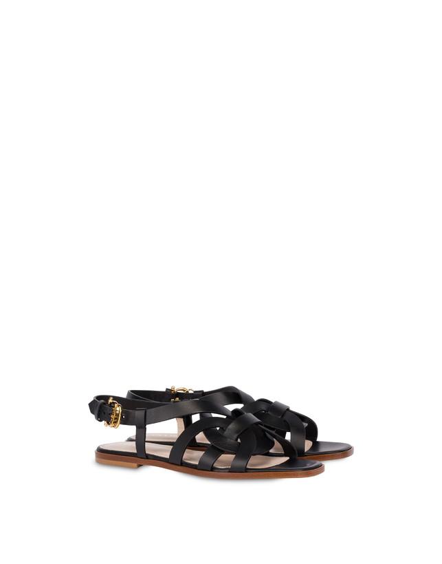 Greek Arco Wave flat cowhide sandals Photo 2
