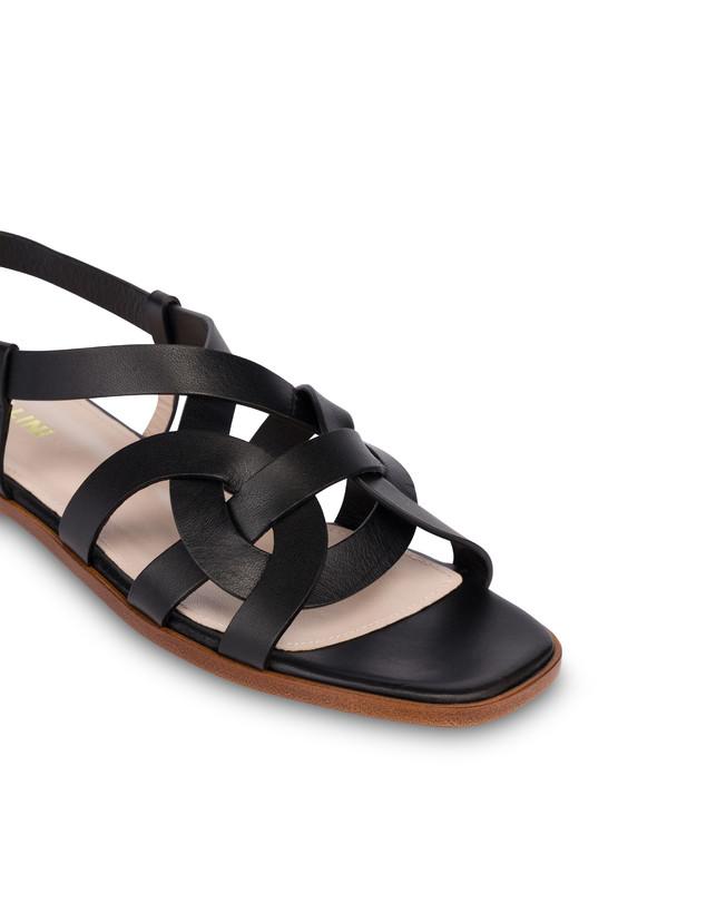 Greek Arco Wave flat cowhide sandals Photo 4