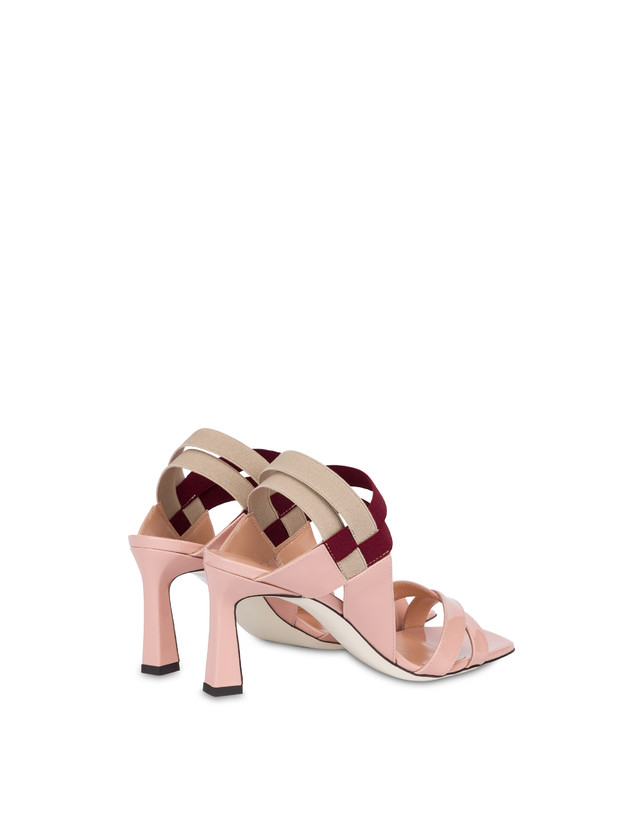 Greek Cross high patent leather sandals Photo 3