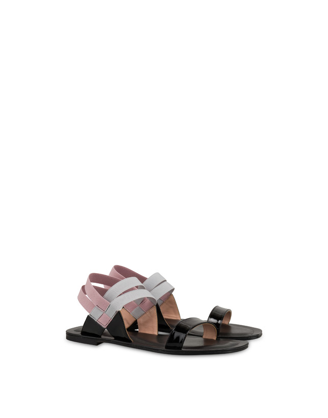 Greek Cross patent leather flat sandals Photo 2