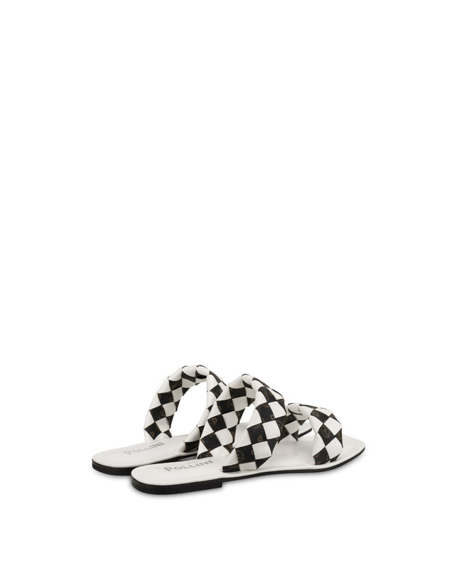 The Queen Of Chess flat sandals with Heritage inserts Photo 3