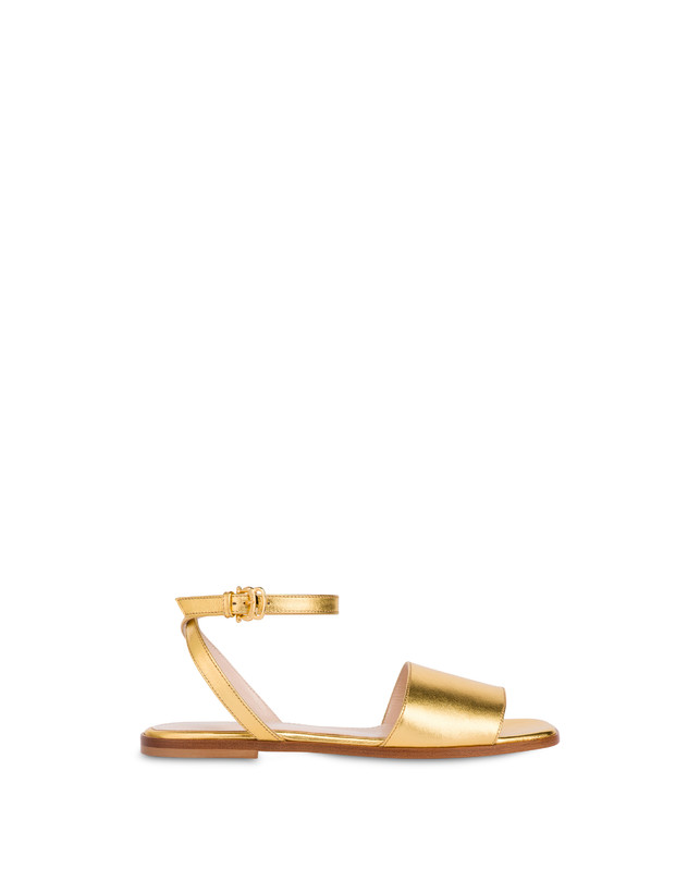 Flat sandals in laminated nappa Photo 1