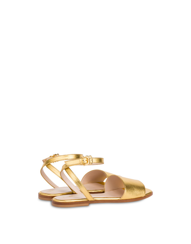Flat sandals in laminated nappa Photo 3