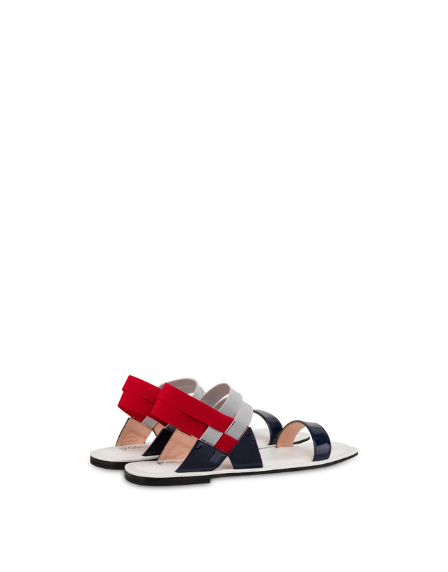 Greek Cross patent leather flat sandals Photo 3