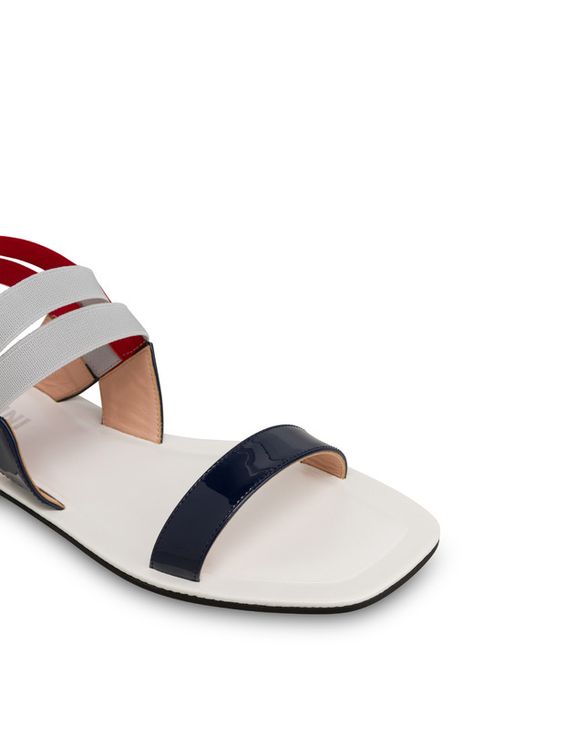 Greek Cross patent leather flat sandals Photo 4