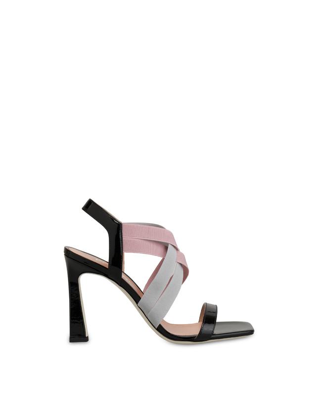 Greek Cross patent leather high sandals Photo 1