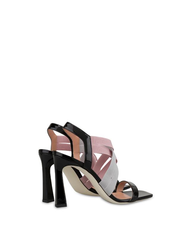 Greek Cross patent leather high sandals Photo 3
