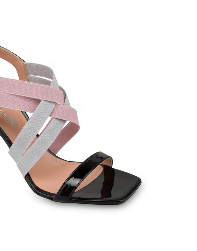 Greek Cross patent leather high sandals Photo 4