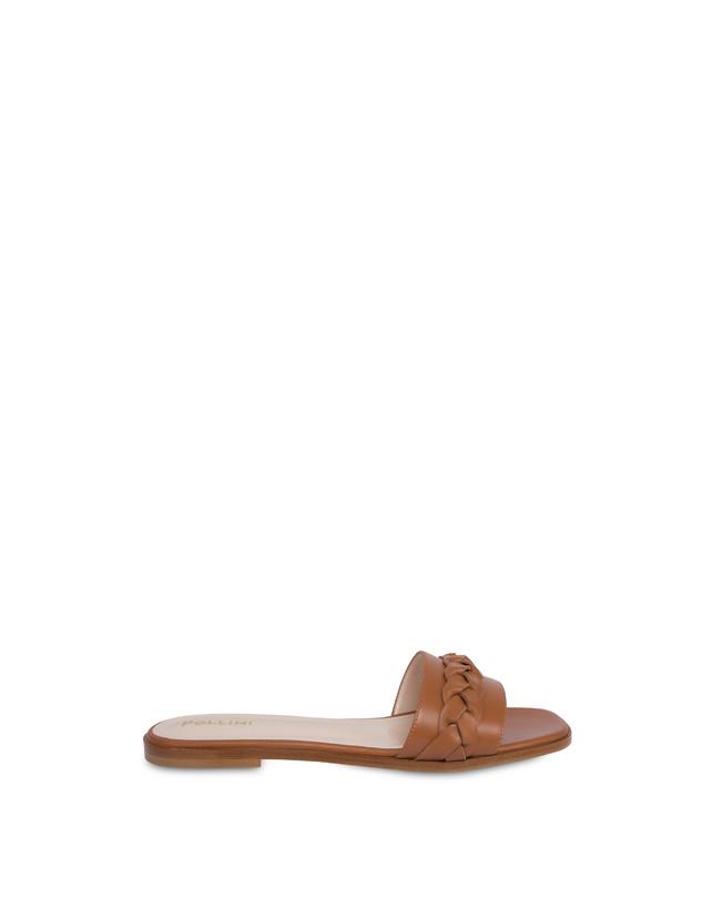Aura flat sandals in calfskin Photo 1