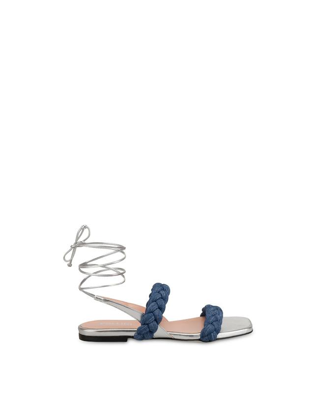 Greek Islands denim and laminate flat sandals Photo 1