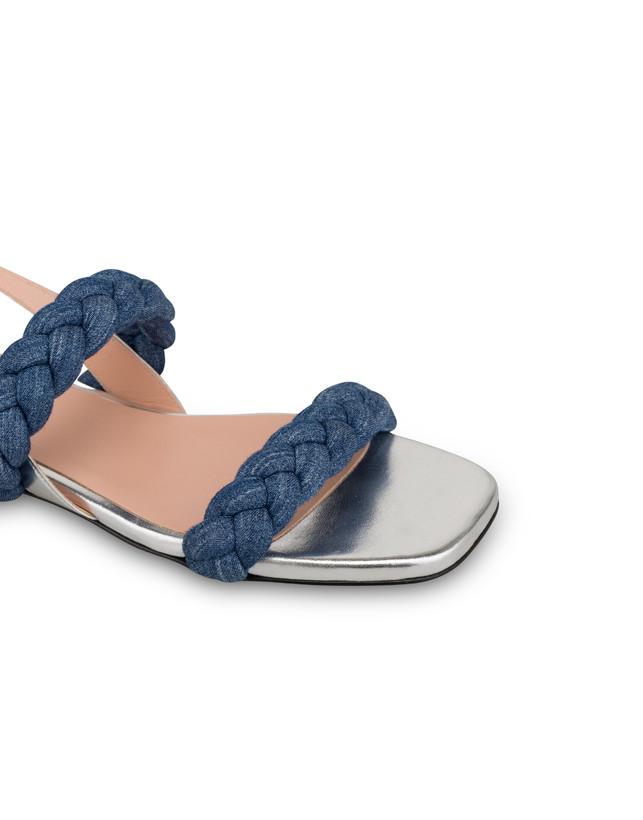 Greek Islands denim and laminate flat sandals Photo 4