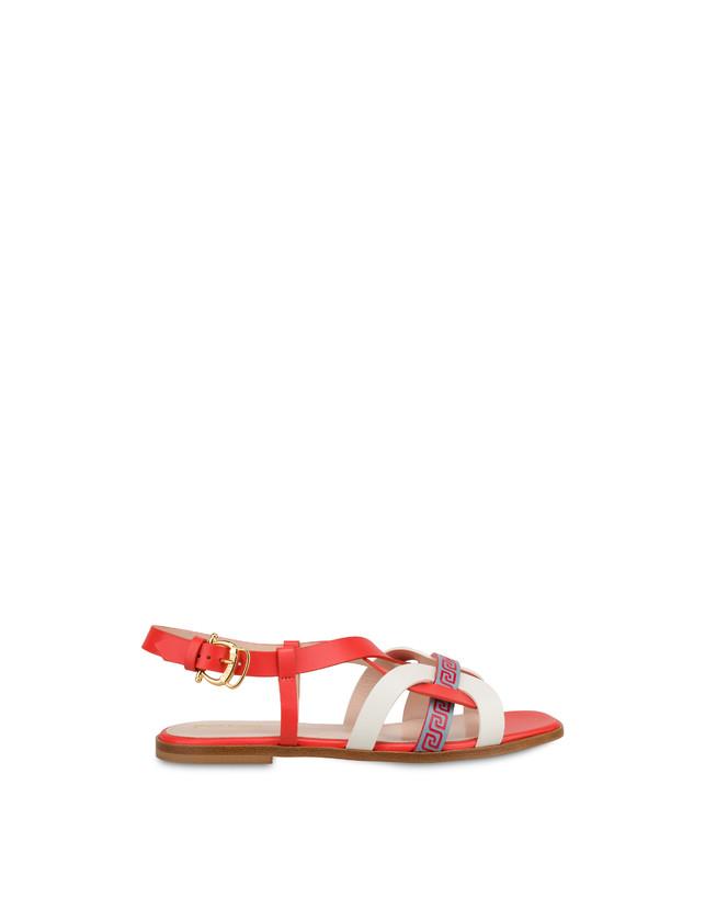 Greek Arco Wave calfskin flat sandals Photo 1